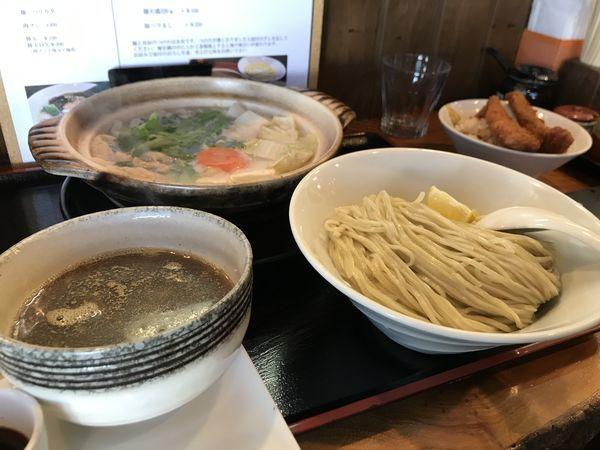 「湯豆腐つけ麺」@麺創 なな家の写真