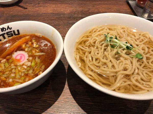 「辛味つけ麺(あつもり)」@つけめんTETSU 壱の木戸 水戸店の写真