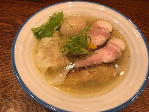 「特製潮そば 950円」@鶏そば 志いなの写真