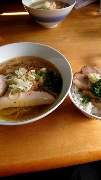 「ランチ チャーシュー丼と塩ラーメン」@麺や 流れ星の写真