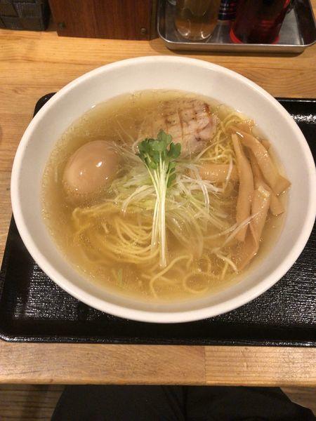 「芳醇鶏そば 味玉付き塩」@麺屋 ふぅふぅ亭の写真