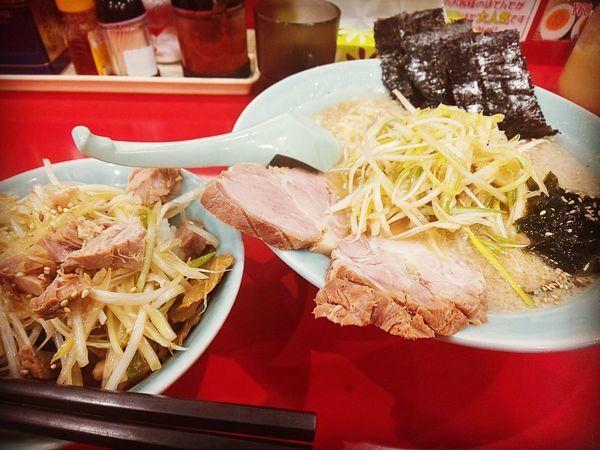 「かいざんラーメン+ネギ丼」@ラーメン かいざん 新小岩店の写真