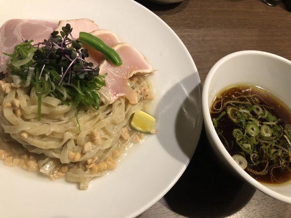「【限定】鶏清湯の納豆昆布出汁つけ麺+特製地鶏ご飯」@八咫烏の写真