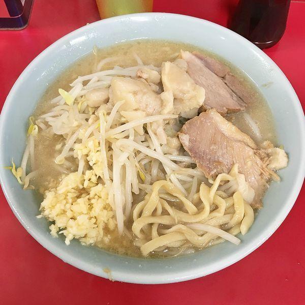 「ラーメン¥700(ニンニク+アブラ)」@ラーメン二郎 新宿歌舞伎町店の写真