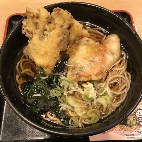 「【季節限定】金目鯛舞茸天(¥500)」@箱根そば 新宿西口店の写真