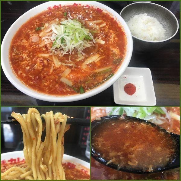 「トマトカレータンタン麺¥950→¥500(クーポン)」@元祖カレータンタン麺 征虎 総本店の写真