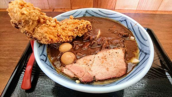 「がっつりカレー麺」@丹行味素 北新横浜本店の写真
