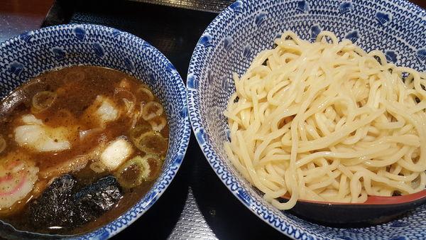 「ワンタンつけ蕎麦」@中華蕎麦 金魚の写真
