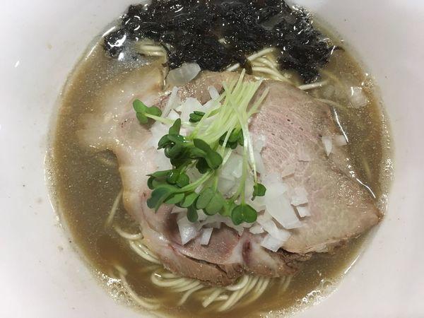 「【限定】濃厚煮干しそば 850円」@麺亭 裕雅の写真
