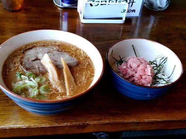 「味噌ラーメン(並盛)850円+本日のまかない飯350円」@中華そば GO.TO.KU ~仁~の写真