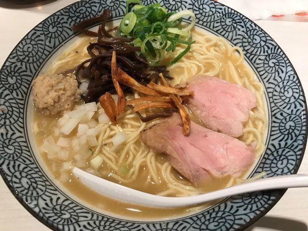 「超濃厚鶏白湯+大盛 880円+100円」@濃厚京鶏白湯 めんや美鶴の写真
