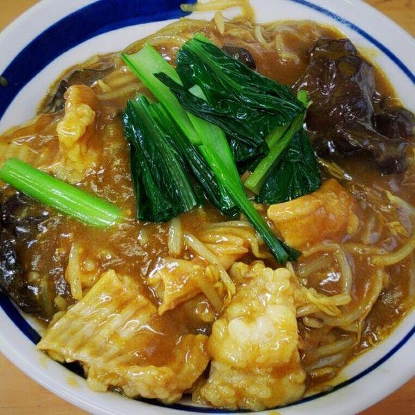 「【霜月限定】ゴールデンシマ腸増量&モヤシ餡掛け1500円」@MENYA 食い味の道有楽の写真
