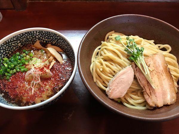 「辛つけ麺  300g  800円」@麺屋くまがいの写真