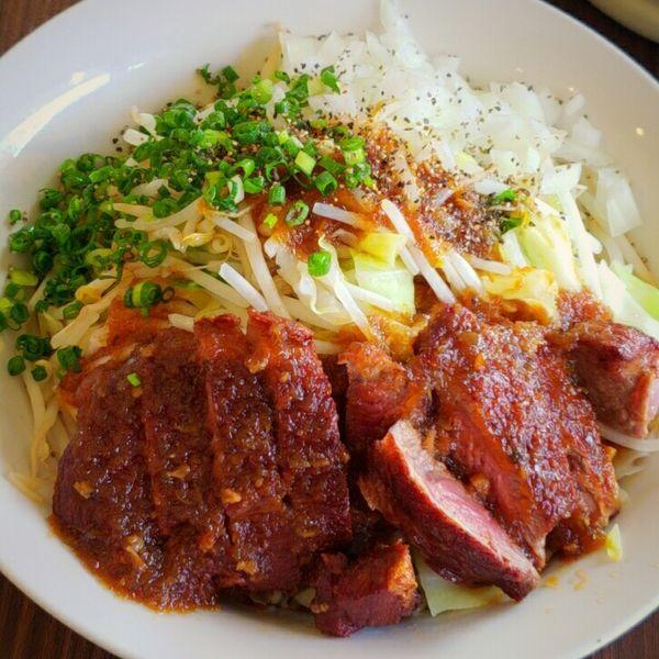 「【限定】ラムステーキまぜそば 1350円」@麺屋 天海の写真