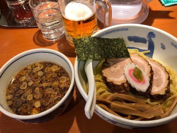 「つけ麺 チャー1枚追加」@たけちゃんにぼしらーめん 調布店の写真