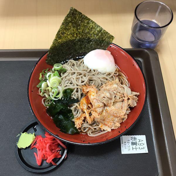 「赤富士そば」@名代 富士そば 高田馬場駅店の写真