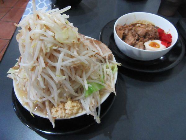 「極太麺 味噌(900円)+ミニカレー丼280円」@麺屋 とん嬉の写真