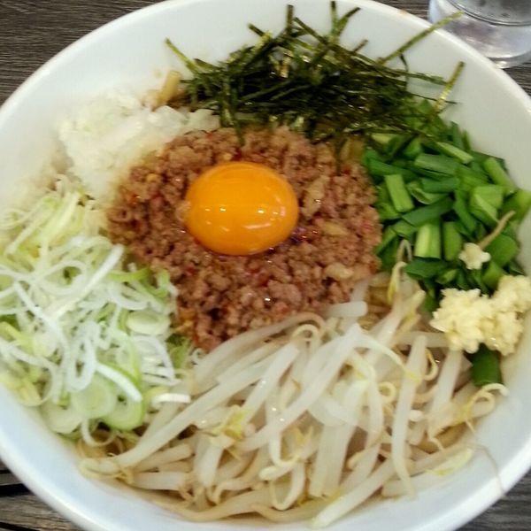 「汁なし台湾」@つけ麺丸和 名駅西店の写真
