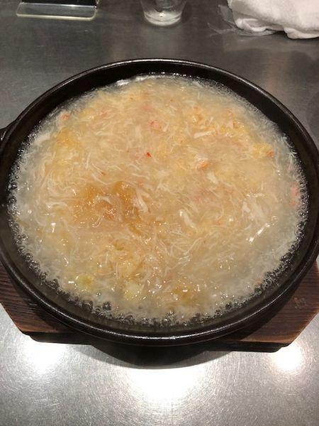 「ふかひれと蟹肉のあん掛けチャーハン(塩味)」@頂上麺 筑紫樓ふかひれ麺専門店 八重洲店の写真