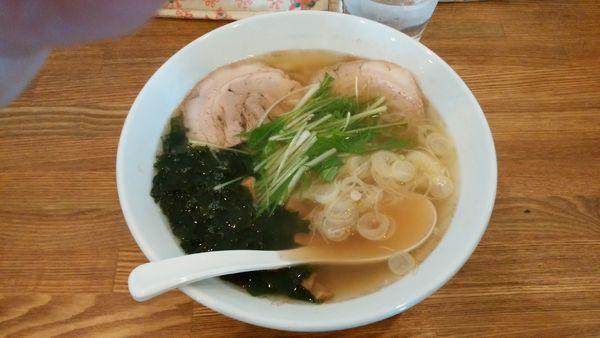「潮風らーめん(塩・平打ち麺)¥780-」@らーめん榎穏の写真