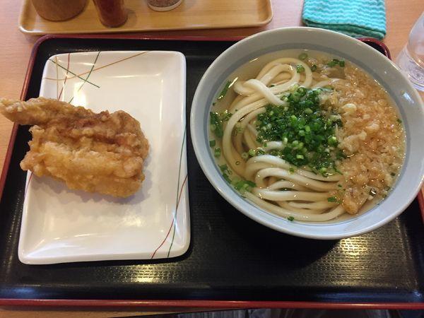 「ひやあつ¥400+かしわ天¥150」@讃岐うどん 條辺の写真