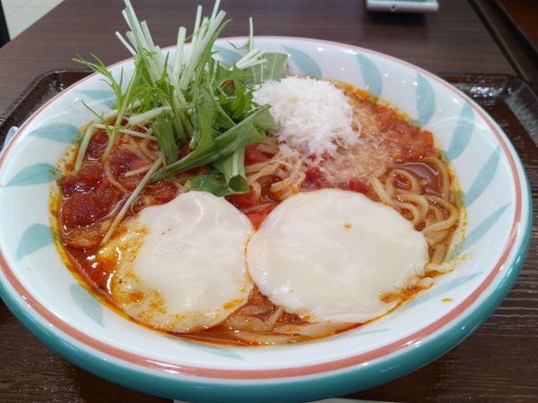 「フランス産モッツァレラチーズのスープ麺」@トマトの花 イオンレイクタウンkaze店の写真