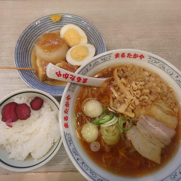 「中華そば (675円)、おでんセット(290円)」@まるたかや 赤田店の写真
