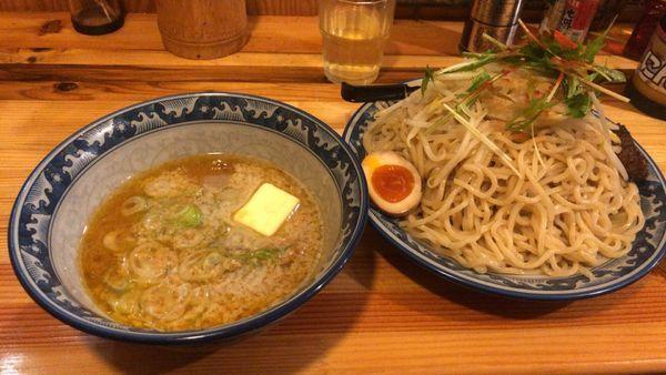 「つけ麺 味噌 ダブル+バター」@田能久の写真