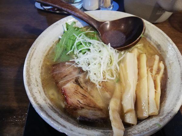 「純塩らぁ麺中盛 メンマトッピング」@麺らいけんの写真
