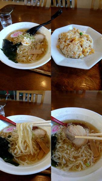 「ラーメン+ミニチャーハンの『ランチセット(¥840)』」@桂林の写真