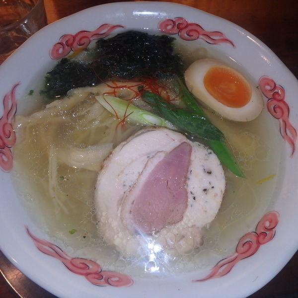「鶏そば(並)(680円)」@麺・DINING 毘沙門天の写真