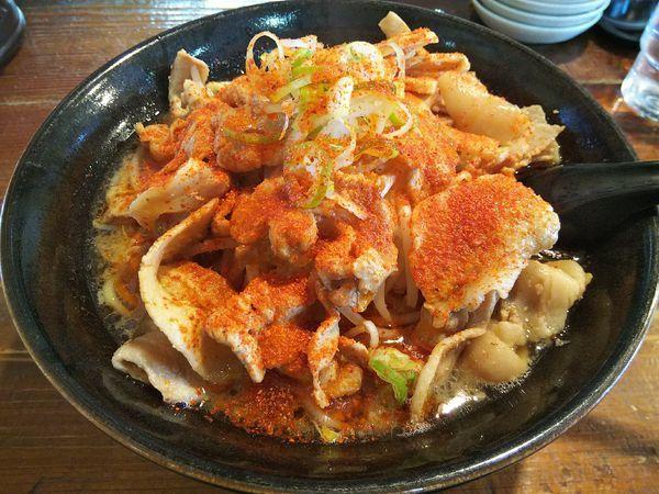 「辛すた麺 (麺大盛り:日曜サービス80円⇒40円)」@麺屋さくらの写真