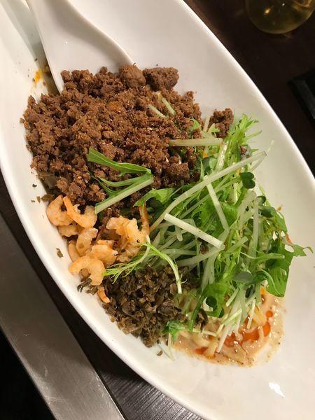 「つゆ無し坦々麺」@四川担担麺 阿吽 北浦和店の写真