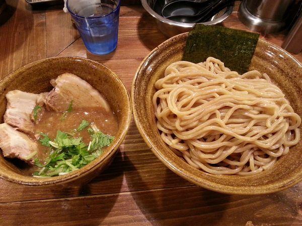 「ベジポタ肉増しつけ麺(胚芽麺) +大盛」@ベジポタつけ麺 えん寺の写真