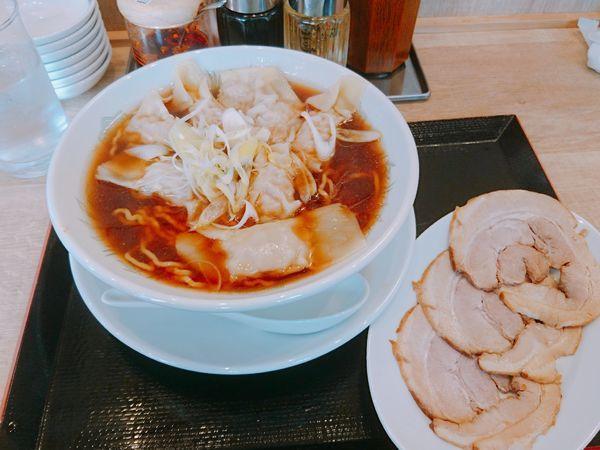 「ワンタン チャーシュー」@餃子製造販売店 いち五郎食堂 伊勢佐木町店の写真