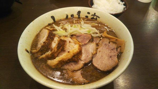 「チャーシューメン大盛(固め)」@つけ麺 小川流 多摩貝取店の写真