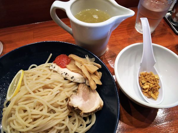 「塩味のつけパスタ¥750+中盛¥0」@ラーメン8の写真