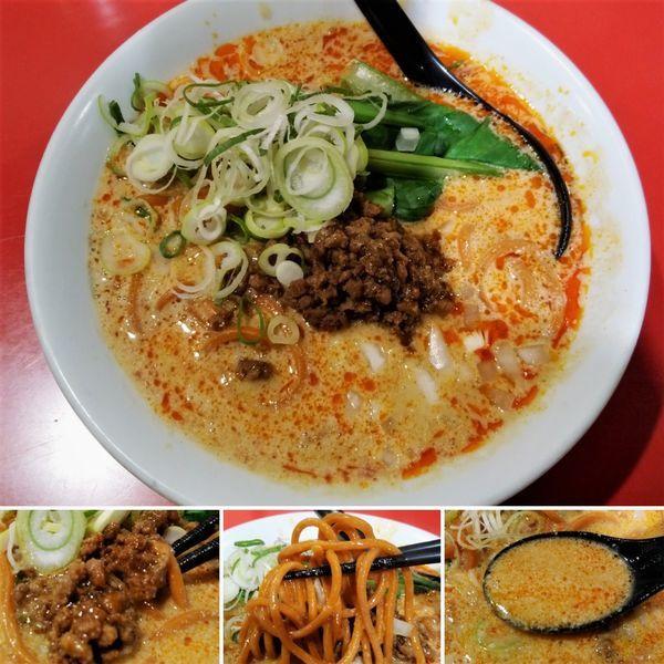 「担々らーめん(赤麺) 870円」@つけめん工房 浅草製麺所の写真
