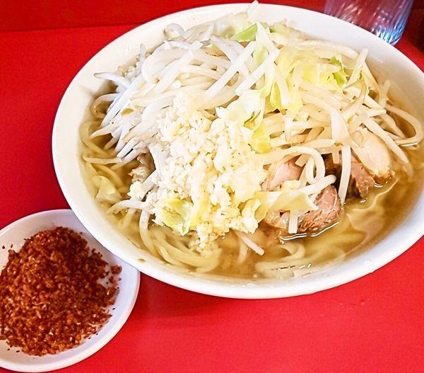 「小ラーメン+辛味」@ラーメン二郎 千住大橋駅前店の写真