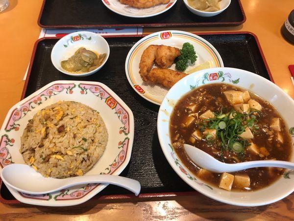 「日替りセット(麻婆麺)888円」@餃子の王将 中央林間りんかんモール店の写真