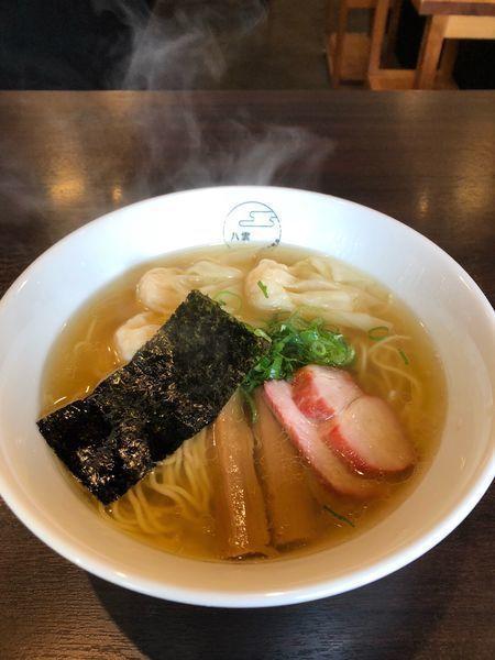 「エビワンタン麺 (ハーフ・3個) (白) ¥1000」@八雲の写真
