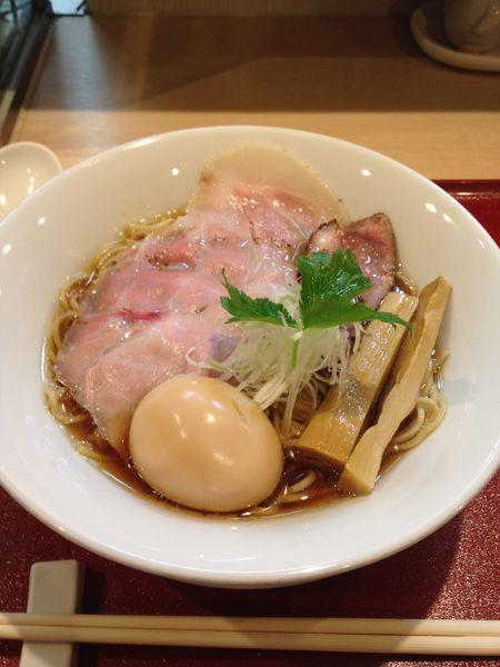 「味玉紀州鴨そば 970円」@燃えよ麺助の写真