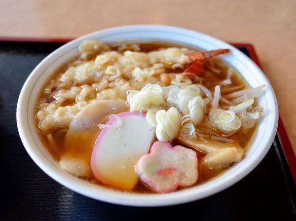 「天ぷら中華そば…850円、玉子丼…630円」@御食事処 角屋の写真