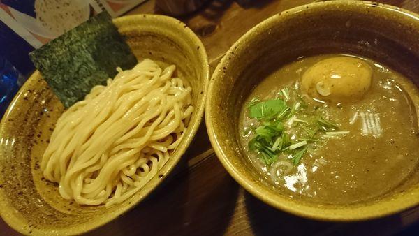 「ベジポタ煮干じめ味玉入りつけ麺(900円)」@ベジポタつけ麺 えん寺の写真