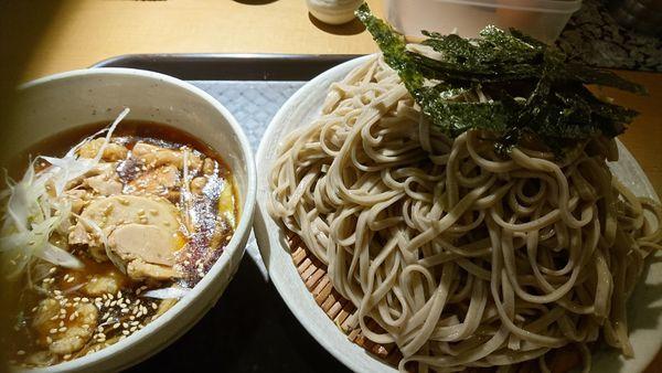 「鶏玉つけそば(大盛り無料)」@神田 つけ蕎麦 わびすけの写真
