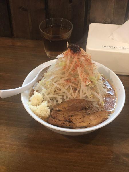 「赤富士 300g 920円 野菜増し」@麺処 はいからの写真