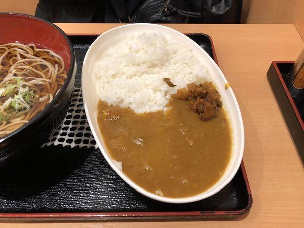 「新宿カレー」@越後そば 小平店の写真