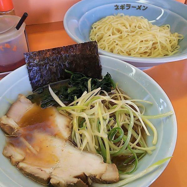 「ネギつけ麺(並)」@ラーメンショップ 椿 小川店の写真