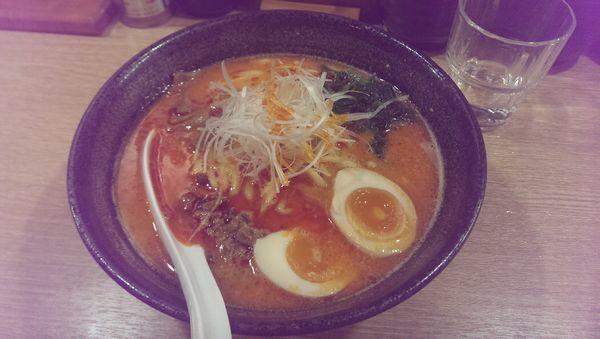 「担々麺、太麺、替玉3」@らーめん光醤の写真