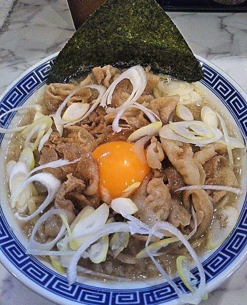 「肉そば(並)750円」@麺屋一男の写真